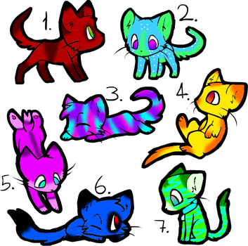 Free Cat Adopts :CLOSED: by SkaiaDreamer