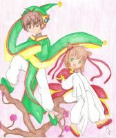 CCS: China Sakura n Shaoran by spiderboy1