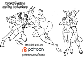 Pose Reference: Anthro Mating Behaviors + DLC by ARVEN92