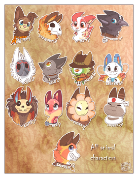 My animal characters. by griffsnuff
