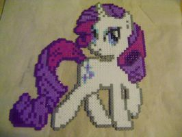Rarity Perler by PsychoLexx