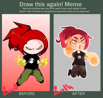 Draw this again! meme by yorusempai