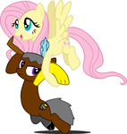 Chaos Doom and Fluttershy by bettybop920