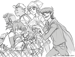 Gorillaz Shopping by Spartichi