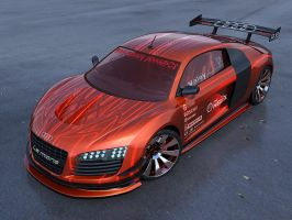 audi r8 orange by masvaley