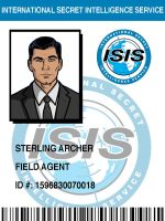 ISIS Badge: Sterling Archer by pinkfizzypops