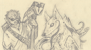 warden and warg by not-fun