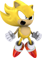 Classic Super Sonic the Hedgehog by itsHelias94