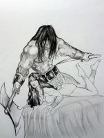 Conan Protector WIP By DW Miller by ConceptsByMiller