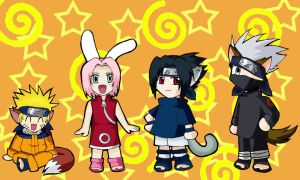Chibi Naruto group by WindyRen