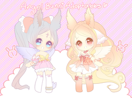 Angel Bunnies 2 Auction Adopties ( Closed) by puddinprincess