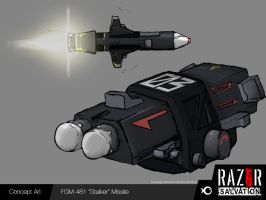 Weapon - 'Stalker' Missile by HozZAaH