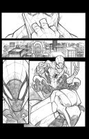 Spiderman practice page pencils by JoeyVazquez