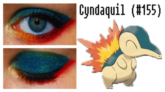 Pokemakeup 155 Cyndaquil by nazzara