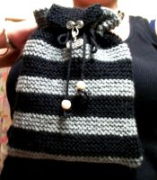 Black and Grey knitted bag by AreWeTheWaiting13