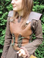 Female fantasy Leather Armour by ThorvaldLodz