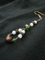 earrings - earth tones by Galasdian