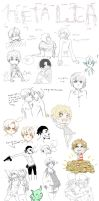 APH Doodles by emo-hippie