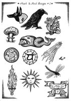 Tattoo Flash 5 by mikegee777