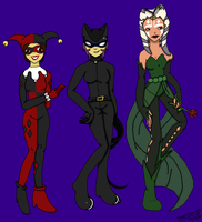 Request: Batman Villian Crossover by TMNTShoujo