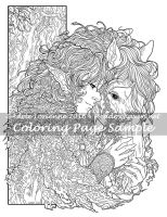 Art of Meadowhaven Coloring Page: Friendship by Saimain