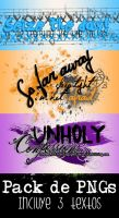 Textos PNG - Pack 8 by LoveDanceFlawless