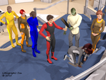 Robot Spider Attack 07 : New Allies 06 of 12 by LithographicDan