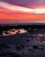 Low Tide at Topanga Beach by 4umypix