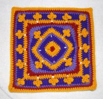 Aladdin's Magic Carpet Square by craftyhanako