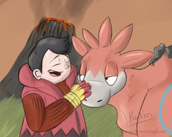 Pokemon - Tabitha and Camerupt by Koili
