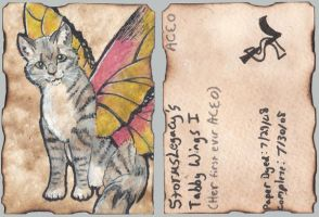 Tabby Wings ACEO by Stormslegacy