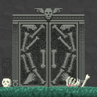 Graveyard Entrance Pixel Art by LineDetail