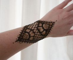 Henna Lace  Flower Gauntlet by flowerwills