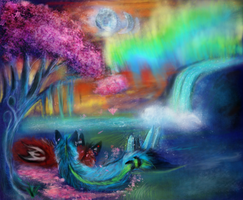 Among Candy Trees and Moonsets by Kinky-Slingy