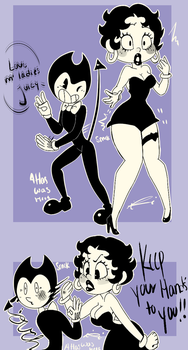 .: Bendy and the THICC Machine :. by DeliciousCoffee