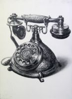 a telephone by indiart3612