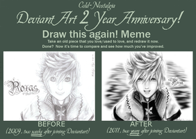 Draw this again meme: 2 years by cold-nostalgia
