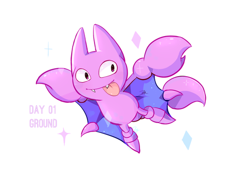 Day 01: Gligar by BaekSkyward