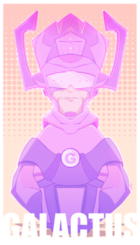 Project 'MARVEL POP' - GALACTUS by alch3mist-design