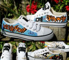 Graffiti shoes by OpaliChan