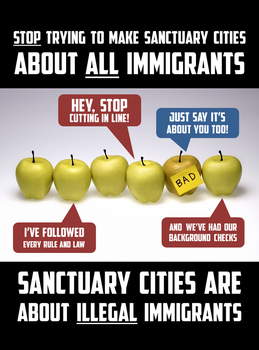 Sanctuary Cities Are About ILLEGALS Not Immigrants by CaciqueCaribe