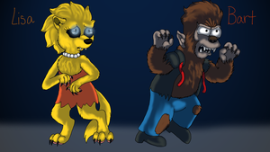 Wolf Lisa vs Bart wolf by cyngawolf