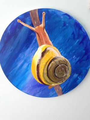 Snail Painting by Taxidermism