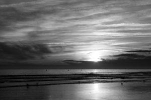 Black and White sundown by UdoChristmann