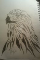 Hawk tattoo design by Nathandavis42