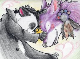 Hug- Soulful-Purple-Wolf Gift by MelNocturne
