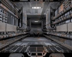 Turbine Control Room by deathbrain