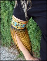 Fringed Leather Arm Band by andromeda