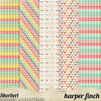 Sherbet Heart Patterns by harperfinch