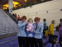ouran highschool host club twins and honey cosplay by coolcatdanya007